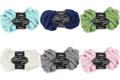Assorted Colour Acrylic Wool Chunky Yarn Knitting Crocheting Crafts 15 mm 300 gm - Hobby & Crafts