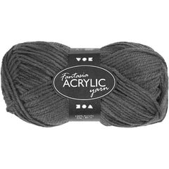 50g Fantasia Knitting 100% Acrylic Wool Double Knitting Yarn 80 m - Grey - Hobby & Crafts
