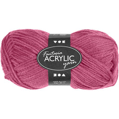 50g Fantasia Knitting 100% Acrylic Wool Double Knitting Yarn 80 m - Antique Rose - Hobby & Crafts