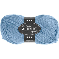 50g Fantasia Knitting 100% Acrylic Wool Double Knitting Yarn 80 m - Light Blue - Hobby & Crafts