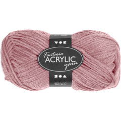 50g Fantasia Knitting 100% Acrylic Wool Double Knitting Yarn 80 m - Light Red - Hobby & Crafts