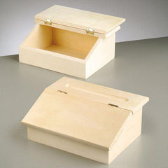 Small Wooden Writing Bureau Case Box Storage Office Desk Tidy Paint Craft 24cm - Hobby & Crafts