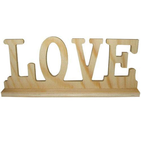 Wooden LOVE Word Cut Out Sign 23 cm To Decorate - Hobby & Crafts