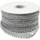 10m Silver Braided Metallic 10mm Trim Ribbon Sewing Card Making Decoration Craft