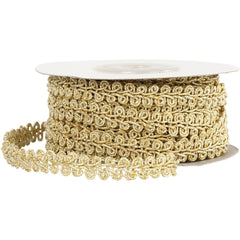 Gold Braided Metallic 10 mm Trim Ribbon Sewing Card Making Craft x 10m