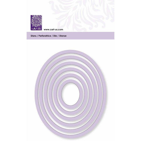 Oval Frame All Machine Punching Embossing Stencil Decoration Craft 29-103 mm - Hobby & Crafts