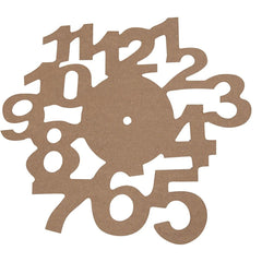 MDF Wooden Clock Face Dial With Numbers Wall Hanging Decoration Crafts D: 30 cm - Hobby & Crafts