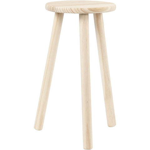 Pine Wood Round Seat Milking Stool With Round Legs Decoration Material Crafts - Hobby & Crafts
