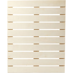 Plywood Slats Panel With Metal Brackets Home Furnishings Decorations Crafts 40x50.2x1.1 cm