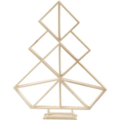 Wooden Geometric Design Christmas Tree Decoration Crafts H: 60 cm W: 47 cm