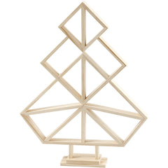 Wooden Geometric Design Christmas Tree Decoration Crafts H: 40 cm W: 31 cm