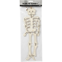 Plywood Halloween Skeleton With String Hanging Decoration Figures Crafts H: 35 cm