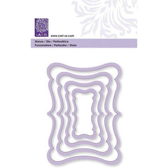 Curve Frame Rectangle All Machine Punching Embossing Stencil Decoration Craft 52-106 mm - Hobby & Crafts