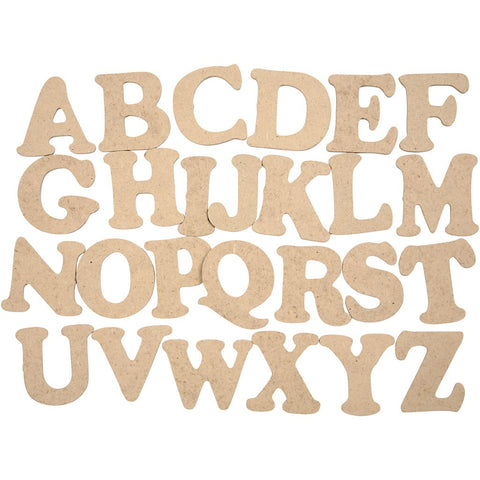 Wooden Letter & Numbers 4cm