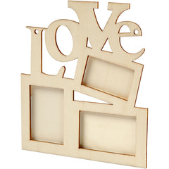 10 x Wooden Frames Collage With Love  Hanging Home Furnishings Decoration Crafts 19.6x16x0.7 cm