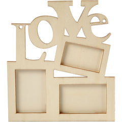 Wooden Frames Collage With Love Hanging Home Furnishings Decoration Crafts 19.6x16x0.7 cm