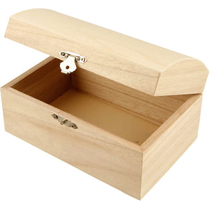 54 x Wooden Treasure Chest Storage Box 16cm Decorate or Paint - OFFER - Hobby & Crafts