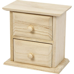 Paulownia Wood Small Chest Of Drawers Home Decor Storage Crafts 13x7.5x13 cm