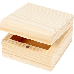 2 x Wooden Jewellery Box With Magnetic Clasp Storage Decoration Crafts 6x6x3.5 cm