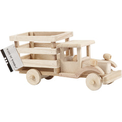 Plywood Truck Vehicle Decoration Crafts 22x7.5x11 cm