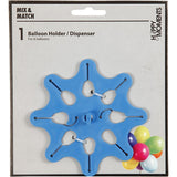 Happy Moments Blue Coloured Star Shaped Plastic Round Balloons Holder Dispenser - Hobby & Crafts