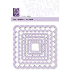 Scallop Square Frame All Machine Punching Embossing Stencil Decoration Craft 17-93 mm - Hobby & Crafts