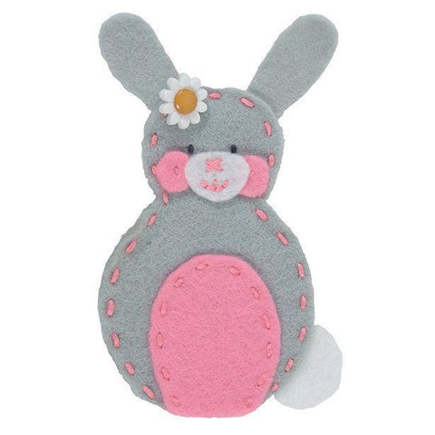 Rabbit Finger Puppet Felt Appliqu?® Craft Kit Needlecraft Kits Canvases 9 cm - Hobby & Crafts
