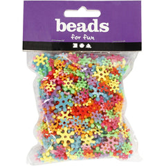 750 x Assorted Colour Different Size Plastic Shaped Bead Jewellery Making Supply - Hobby & Crafts