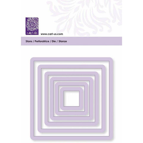 Square Frame All Machine Punching Embossing Stencil Decoration Craft 17-82 mm - Hobby & Crafts