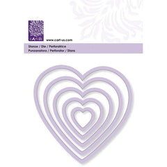 Heart Frame All Machine Punching Embossing Stencil Decoration Craft 19-90 mm - Hobby & Crafts
