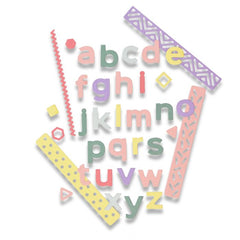Sizzix Thinlits Die Set 33 Dies & Borders  - Pop Art Lowercase by Sophie Guilar