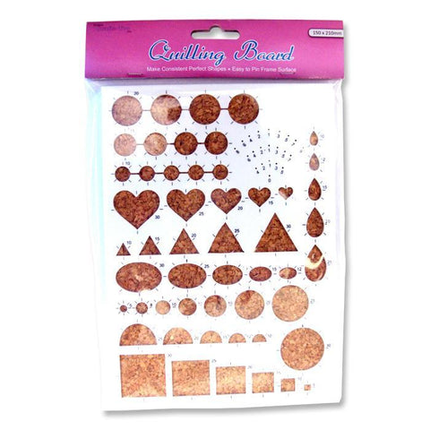 Crafts Too Assorted Shapes Quilling Board For Craft Decorations 21 cm - Hobby & Crafts