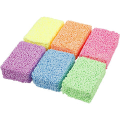 6 x Soft Foam Clay Assorted Neon Colour Moulding Modelling Compound Crafts 10 gm - Hobby & Crafts