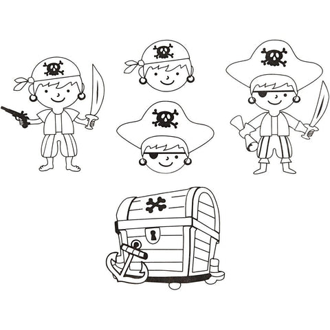 4 x Assorted Designs Pirates Motives Shrink Plastic Sheets Childs Craft Supplies - Hobby & Crafts