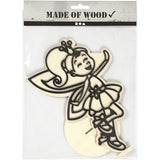 EVA Foam Fairy Motif Wooden Figure With Stand Painting Clay Decoration Crafts - Hobby & Crafts
