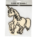 EVA Foam Unicorn Motif Wooden Figure With Stand Painting Clay Decoration Crafts - Hobby & Crafts
