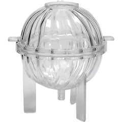 Durable Plastic Candle Mould Size H: 70mm Wick Size 21 - Spiral Spherical