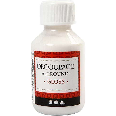 Decoupage All Round Glossy Lacquer Sealing Glue 100ml - Hobby & Crafts