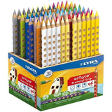96 x Lyra Ergonomic Triangular Shaped Assorted Colour Colouring Pencils 18 cm - Hobby & Crafts
