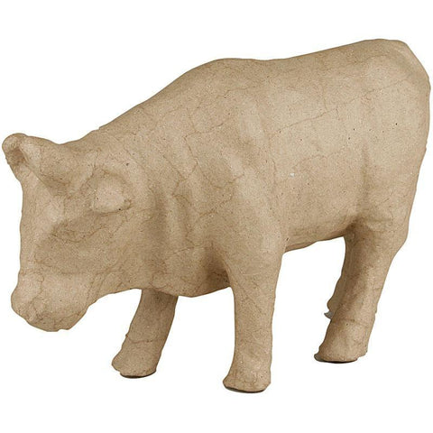 15cm Handmade Cow Animal Shaped Craft Paper Mache - Hobby & Crafts