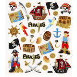 Colourful Pirates Glitter Stickers Self Adhesive Embellishment Decoration Craft - Hobby & Crafts