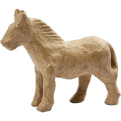 12cm Horse Animal Shaped Craft Paper Mache Make Your Own Decoration - Hobby & Crafts