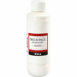 Decoupage All Round Glossy Lacquer Sealing Glue 250 ml - Hobby & Crafts