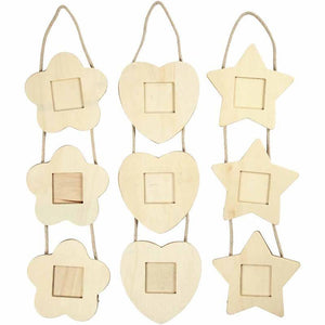 3-In-One Wooden Photo Frames Decoration Craft - Hobby & Crafts