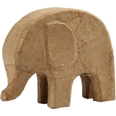 Elephant Animal Shaped Personalised Craft Paper Mache - 14cm - Hobby & Crafts