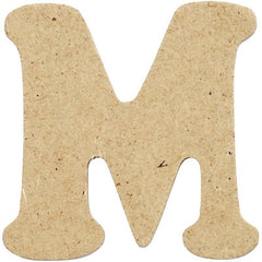 10 x Pre Punched MDF Wooden Letter 4 cm - Initial M - Hobby & Crafts