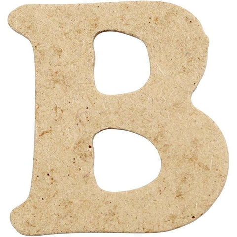 10 x Pre Punched MDF Wooden Letter 4 cm - Initial B - Hobby & Crafts
