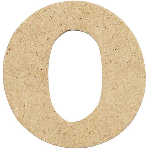 10 x Pre Punched MDF Wooden Letter 4 cm - Initial O - Hobby & Crafts