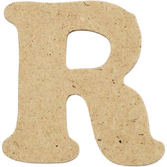 10 x Pre Punched MDF Wooden Letter 4 cm - Initial R - Hobby & Crafts