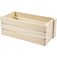 Wooden Fruit Crate Decoration Craft Material 34 cm - Hobby & Crafts